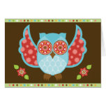 OwlBoheme Blu Notecard Cards