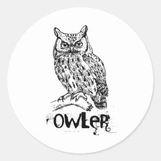 Owler Classic Round Sticker