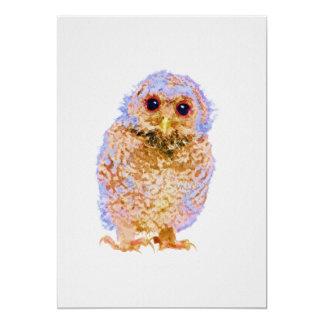 Owlet Baby Owl Nursery Print on 5x7 Cardstock Card