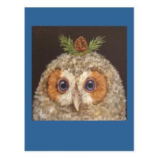 owlet con la postal del tamarack