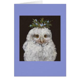 Owlet con la tarjeta del cedro