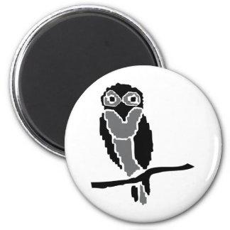 owlet del noctámbulo imán redondo 5 cm