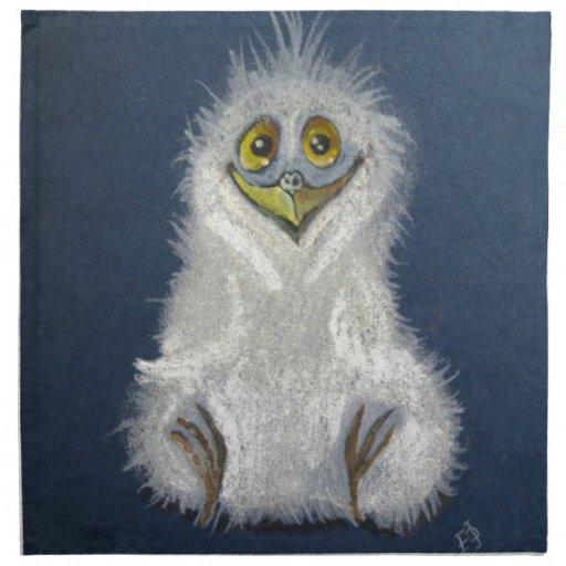 Owlet divertido - pájaro de bebé servilletas