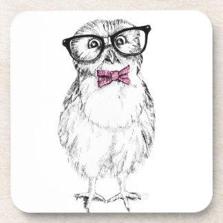 Owlet Nerdy pequeño pero elegante Posavasos