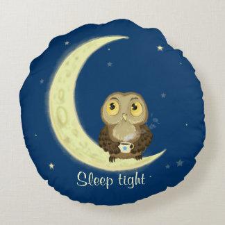 Owlet Night-night sleep tight Round Pillow