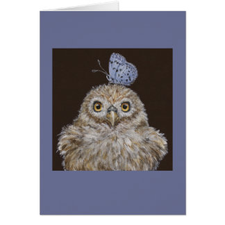 owlet with butterfly card