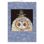 Owlet with pine hat card