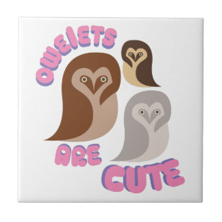 Owlets Are Cute Tile