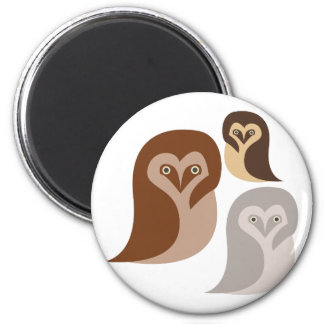 Owlets Imán Redondo 5 Cm