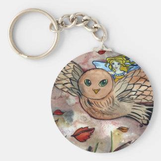 Owlflight button keychain
