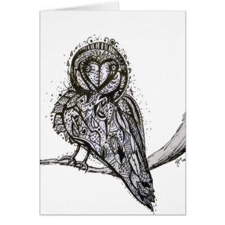 Owlfully Notecard lindo Tarjeta Pequeña