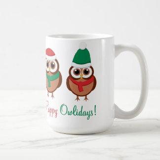 Owlidays feliz taza clásica