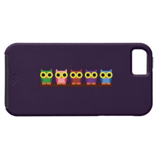OWLIE BOO - Colorful owls iPhone 5 Cases