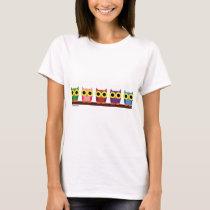 OWLIE BOO - Colorful owls T-Shirt