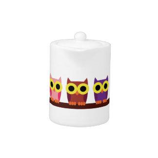 OWLIE BOO - Colorful owls Teapot