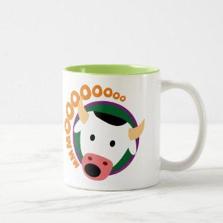 OWLIE BOO - Cow Two-Tone Coffee Mug
