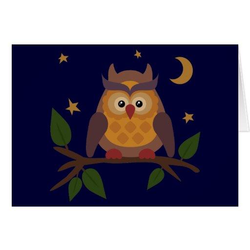 Owlie Greeting Card