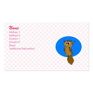 Owlie Owl Business Card Template