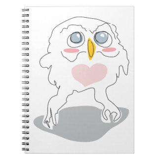 owlie the cutie pie notebook