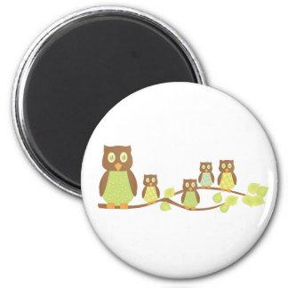 Owlies 2 Inch Round Magnet