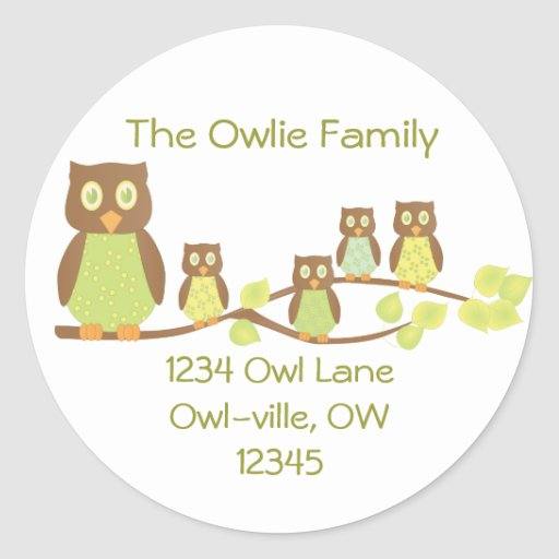 Owlies Pegatinas Redondas