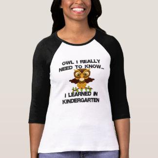 OwlIKnow KindergartenBLK T-Shirt
