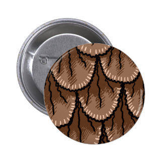 Owlin' feathers 2 inch round button