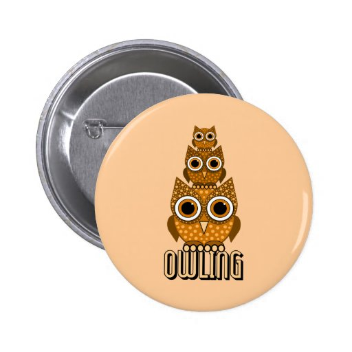 owling 2 inch round button