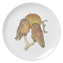 Owling Around Melamine Plate