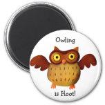 ¡Owling es pitido! Imán De Nevera