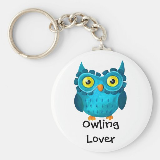 Owling is Top Basic Round Button Keychain