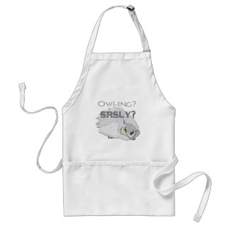 Owling Seriously Adult Apron