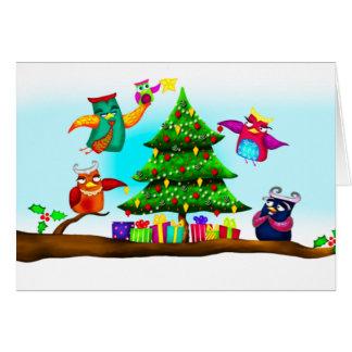 Owlly Christmas card