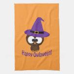 Owloween feliz toalla