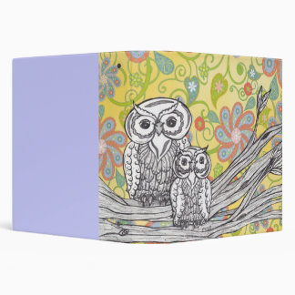Owls 03 3 ring binder