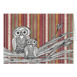 Owls 06 Gift card card