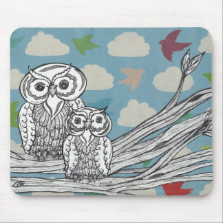 Owls 07 Mouse pad