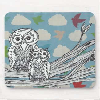 Owls 07 Mouse pad mousepad
