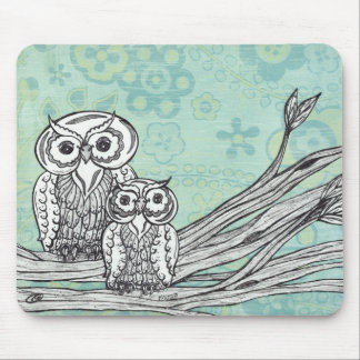 Owls 102 mouse pad