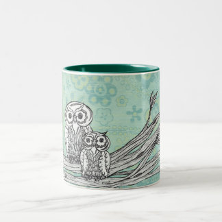 Owls 102 Two-Tone coffee mug