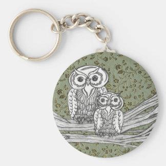 Owls 10 keychain