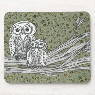 Owls 10 mouse pad