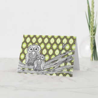 Owls 11 Card card