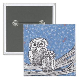 Owls 13 Button