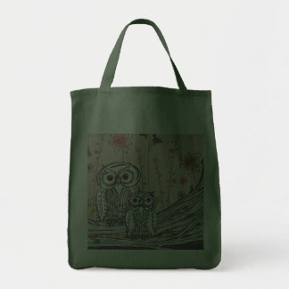 Owls 15 Grocery Tote Bag