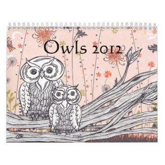 Owls 2012 Calendar calendar