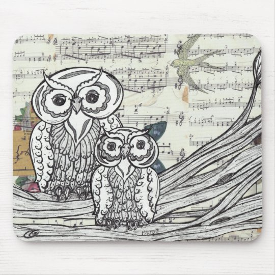 Owls 22 Mouse pad