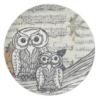 Owls 22 Plate