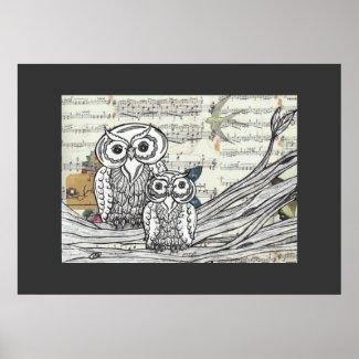 Owls 22 Print print