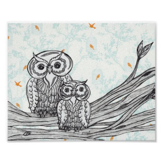 Owls 25 Print